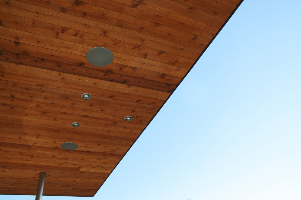 In soffit speakers