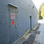 Exterior camera in laneway - Soundwerks Audio and Video Sunshine Coast BC